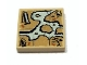Part No: 3068bpb0407  Name: Tile 2 x 2 with Map Cave, Tree, House, Waterfall Pattern