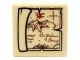Part No: 3068bpb0639  Name: Tile 2 x 2 with Groove with Map Lonely Mountain, Desolation of Smaug Pattern (Sticker) - Set 79003
