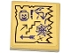 Part No: 3068bpb0931  Name: Tile 2 x 2 with Groove with Map Arrows, Skull and Snake Heads, Exclamation Mark and Spider Web Pattern (Sticker) - Set 70749