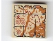 Part No: 3068bpb1088  Name: Tile 2 x 2 with Groove with Map River, Mountains, Waves and Red 'X' Pattern