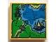 Part No: 3068bpb1098  Name: Tile 2 x 2 with Map Ninjago with Pagoda and Ship Pattern