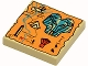 Part No: 3068px21  Name: Tile 2 x 2 with Map Orange and Hieroglyphs, 20 Pattern