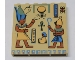 Part No: 3754px2  Name: Brick 1 x 6 x 5 with Hieroglyphs and Minifigure Pattern
