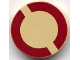 Part No: 4150px33  Name: Tile, Round 2 x 2 with Dark Red SW Semicircles Pattern