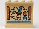 Part No: 4215pb014  Name: Panel 1 x 4 x 3 with Egyptian Pattern 1 on Inside - Scarab on Right (Sticker) - Set 5938