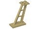 Part No: 4476b  Name: Support 2 x 4 x 5 Stanchion Inclined, 5mm Wide Posts