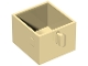 Part No: 4891  Name: Duplo Furniture Drawer 2 x 2 with Pull Handle