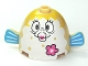 Part No: 60339pb01  Name: Body Pufferfish with Mrs. Puff with Pink Flower Pattern (SpongeBob)