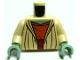 Part No: 973pb0534c01  Name: Torso SW Open Robe, Dark Orange Shirt with Waist Sash Pattern (Yoda) / Tan Arms / Sand Green Hands