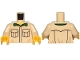 Part No: 973pb3167c01  Name: Torso with Black Outlined Pockets, Dark Green Collar Pattern / Tan Arms / Yellow Hands