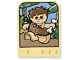 Part No: dupstr07  Name: Storybuilder Meet the Dinosaur Card with Caveman Boy Pattern