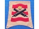 Part No: sailbb17  Name: Cloth Sail 25 x 25 Square with Crossed Cannons Pattern