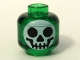 Part No: 3626bpb0225  Name: Minifig, Head with Round Black on White Skull Pattern (Witch's Bottle) - Blocked Open Stud