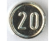Part No: 70501b  Name: Minifigure, Utensil Coin Type 1 with 20 Mark