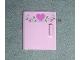 Part No: 6196pb01  Name: Container, Cupboard 4 x 4 x 4 Door with 3 Dark Pink Hearts and Vine Pattern (Sticker) - Set 5860