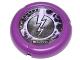 Part No: 32171pb049  Name: Throwbot Disk, Electro / Energy, 2 pips, lightning logo Pattern