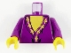 Part No: 973px149c01  Name: Torso Harry Potter Dumbledore Pattern / Purple Arms / Yellow Hands