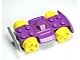 Part No: racerbase  Name: Vehicle, Base 4 x 6 Racer Base with Wheels (Color Undetermined) and Bumpers