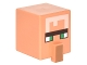 Part No: 23766pb002  Name: Minifigure, Head Modified Cube Tall with Raised Rectangle and Minecraft Villager Pattern