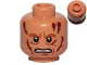 Part No: 3626cpb0443  Name: Minifigure, Head Male Scars, Bared Teeth Pattern (SW Anakin Skywalker) - Hollow Stud