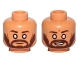 Part No: 3626cpb1707  Name: Minifig, Head Dual Sided Male Dark Brown Eyebrows, Beard, Cheek Lines, White Blind Eyes, Neutral / Smile Pattern (SW Kanan Jarrus) - Stud Recessed