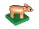 Part No: 75726c01pb01  Name: Duplo Pig Baby (Piglet) First Version on Green Base