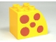 Part No: 11344pb002  Name: Duplo, Brick 2 x 3 x 2 with Curved Top and Dark Orange Spots Pattern on Both Sides