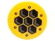 Part No: 14769pb055  Name: Tile, Round 2 x 2 with Bottom Stud Holder with Hexagon Tiles Pattern (Sticker) - Set 70225