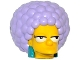 Part No: 19902c02pb01  Name: Minifigure, Head Modified Simpsons Patty with Dark Turquoise Earrings and Lavender Hair Pattern