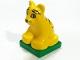 Part No: 2334c03pb03  Name: Duplo Tiger Cub on Green Base