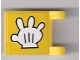 Part No: 2335pb085  Name: Flag 2 x 2 Square with Glove Pattern on Both Sides (Stickers) - Set 3816