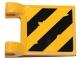 Part No: 2335pb189  Name: Flag 2 x 2 Square with Black and Yellow Diagonal Stripes Pattern (Sticker) - Set 70823