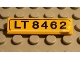 Part No: 2431pb033  Name: Tile 1 x 4 with 'LT 8462' Pattern (Sticker) - Set 8462