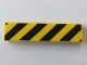 Part No: 2431pb426  Name: Tile 1 x 4 with Black and Yellow Danger Stripes (Black Corners) Pattern (marked for deletion because appears to be same as 2431p52)