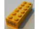 Part No: 2456pb006  Name: Brick 2 x 6 with Train Logo White on Yellow Background Pattern on Both Sides (Stickers) - Set 7939