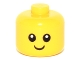 Part No: 24581pb01  Name: Minifig, Baby / Toddler Head, Black Eyes, White Pupils and Smile Pattern