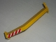 Part No: 2641pb001  Name: Support Crane Stand Single with Red and White Danger Stripes Pattern (Sticker) - Set 6541