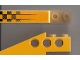 Part No: 2744pb006  Name: Technic Slope Long with Fading Checks Pattern Left (Sticker) - Set 8445