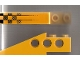 Part No: 2744pb007  Name: Technic Slope Long with Fading Checks Pattern Right (Sticker) - Set 8445