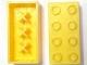 Part No: 3001miA  Name: Minitalia Brick 2 x 4 with Bottom X Supports