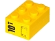 Part No: 3002pb29L  Name: Brick 2 x 3 with '10T' and Hatch Pattern on End Model Left Side (Sticker) - Set 60076