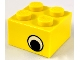 Part No: 3003pe2  Name: Brick 2 x 2 with Eye with White Pattern on Two Sides, Offset