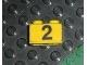 Part No: 3004pb002  Name: Brick 1 x 2 with Black '2' on Yellow Background Pattern (Sticker) - Set 374-1