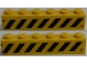 Part No: 3009pb087  Name: Brick 1 x 6 with Black and Yellow Danger Stripes Pattern on Both Sides (Stickers) - Set 7898