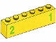 Part No: 3009pb182  Name: Brick 1 x 6 with Green Number 2 on Left and Green Number 1 on Right Pattern (Stickers) - Set 7740