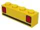 Part No: 3010p09  Name: Brick 1 x 4 with Car Taillights Pattern (Basic)