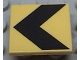 Part No: 30258pb001  Name: Road Sign Clip-on 2 x 2 Square with Black Chevron Pattern (Printed)
