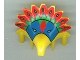 Part No: 30276px1  Name: Minifigure, Headgear Headdress Jungle with Colored Feather Pattern (Achu)