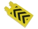 Part No: 30350apb001  Name: Tile, Modified 2 x 3 with 2 Clips (angled clips) with Black and Yellow Danger Stripes Pattern