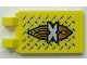 Part No: 30350apb004  Name: Tile, Modified 2 x 3 with 2 Clips (angled clips) with Silver 'X' Island Xtreme Stunts Logo Pattern (Sticker) - Set 6739
